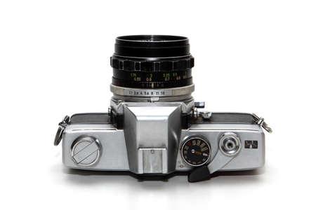 old analog reflex camera Stock Photo