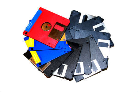 Floppy disks of the past - symbol image Stock Photo