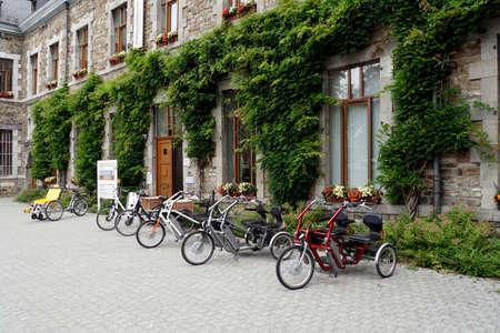 E-Trike for two people, Malmedy, Lüttich province, Belgium