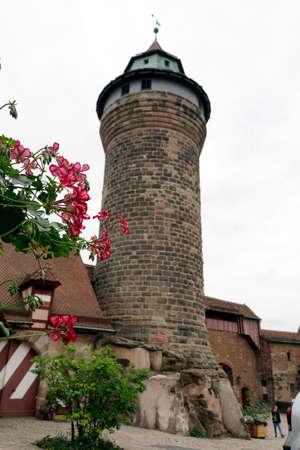 historic old town Nuremberg - Sinwell tower on the Kaiserburg, Bavaria, Germany Redakční