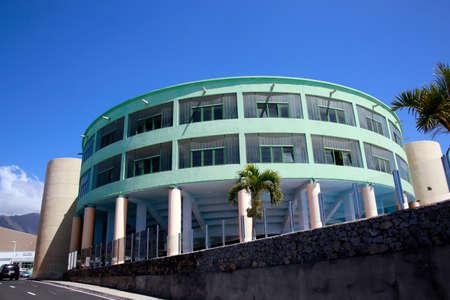 Municipal multipurpose sports facility Tazacorte, La Palma, Canary Islands, Spain Standard-Bild - 104511940