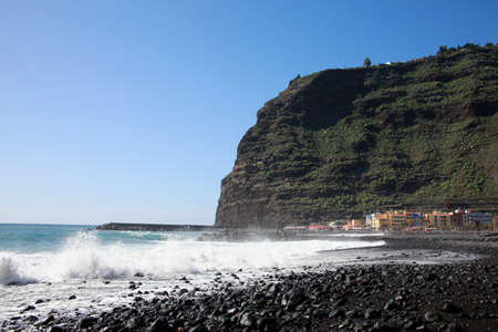 beach in Puerto de Tazacorte, La Palma, Canary Islands, Spain