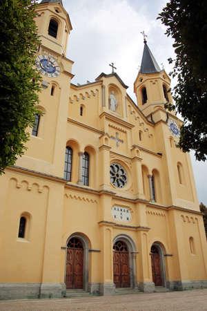 Parish church Assumption of Mary, Brunico, South Tyrol, Italy