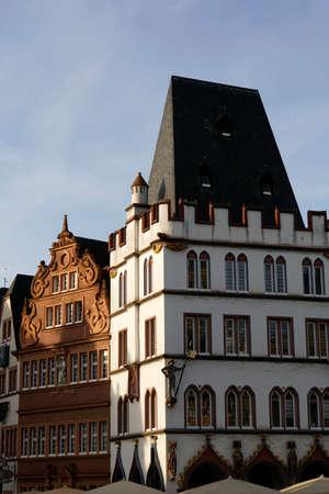 Steipe, gothic building at Hauptmarkt, Trier, Rhineland-Palatinate, Germany Stock Photo