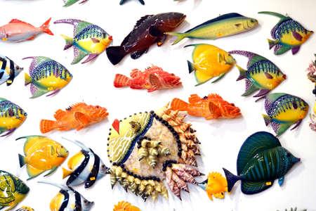 typical Maltese glass art - tropical glass fish, Malta
