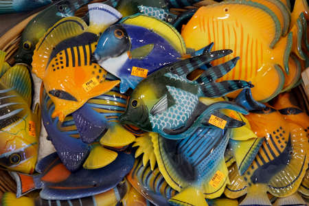 typical Maltese glass art - tropical fish made of glass, Malta