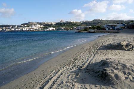 Beach of Ghadira at Mellieha Bay, Malta Reklamní fotografie