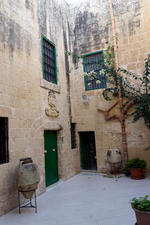 Wignacourt Museum - Amphores in the courtyard, Rabat, Malta
