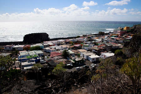 Houses in the illegal but tolerated settlement La Bombilla, Los Llanos de Aridane, La Palma, Canary Islands, Spain