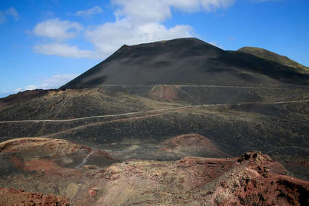 view from the volcano Teneguia on the south side of the volcano San Antonio, Fuencaliente, La Palma, Canary Islands, Spain