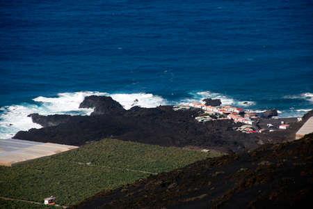 beach and settlement Punta Larga, Fuencaliente, La Palma, Canary Islands, Spain