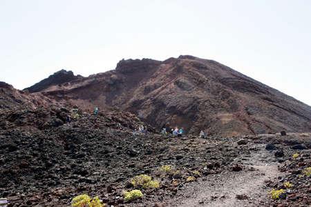 hike on the volcano Teneguia, Fuencaliente, La Palma, Canary Islands, Spain Reklamní fotografie