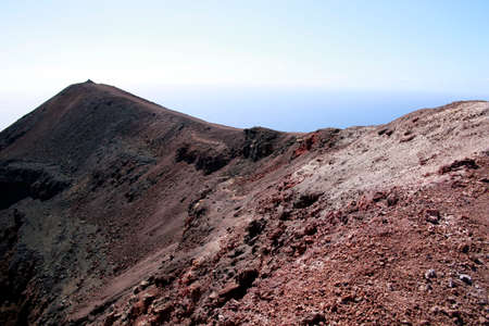 hike on the volcano Teneguia, Fuencaliente, La Palma, Canary Islands, Spain 免版税图像