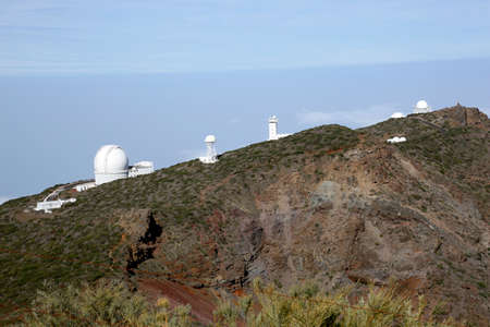 various telescopes of the observatory at Roque de los Muchachos, La Palma, Canary Islands, Spain Stock Photo