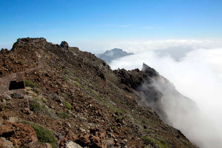 Viewpoint at Roque de los Muchachos in the Caldera Taburiente, La Palma, Canary Islands, Spain