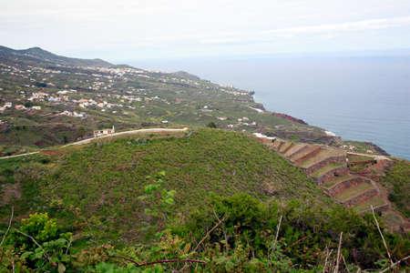 view from the viewpoint Jump of the Enamorado towards north, San Bartolome, Santa Cruz de La Palma, Canary Islands, Spain Reklamní fotografie