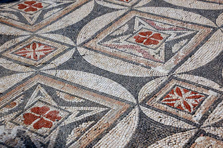 Ancient archaeological site of Ayios Trias basilica with wonderful floor mosaics, Sipahi, Turkish Republic of Northern Cyprus Reklamní fotografie