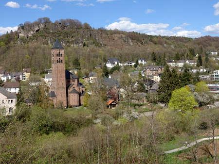 Evangelical Redeemer Church with Munterley, Gerolstein, Rhineland-Palatinate, Germany