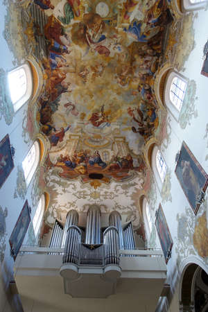 Baroque interior of the parish church of St. Martin, Biberach, Baden-W