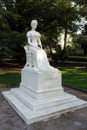 Monument to Elisabeth of Austria-Hungary, Austrian Empress, called Sissi, Merano, South Tyrol, Italy