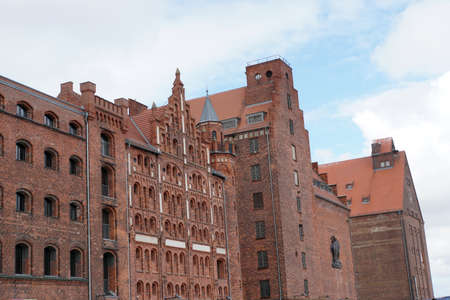 former warehouses at the harbor, Hanseatic City of Stralsund, Mecklenburg-Western Pomerania, Germany