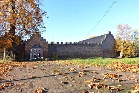Haus Lauvenburg, medieval moated castle, Zülpich, North Rhine-Westphalia, Germany