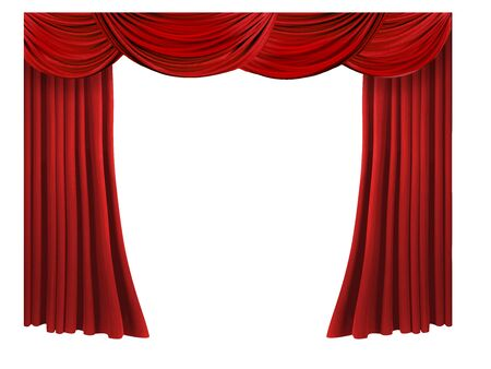 Red curtain 스톡 콘텐츠 - 129955733