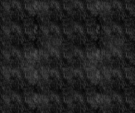 Rain overlays on black background