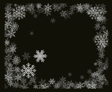 Snowflakes ovelray snowflakes and snowing