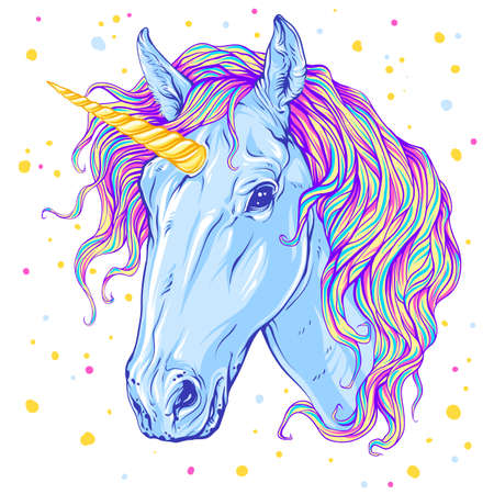 Magic unicorn vector illustration
