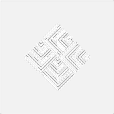 psychics: Ripple Rhombus Canvas Minimal Art Odd Design Stock Photo