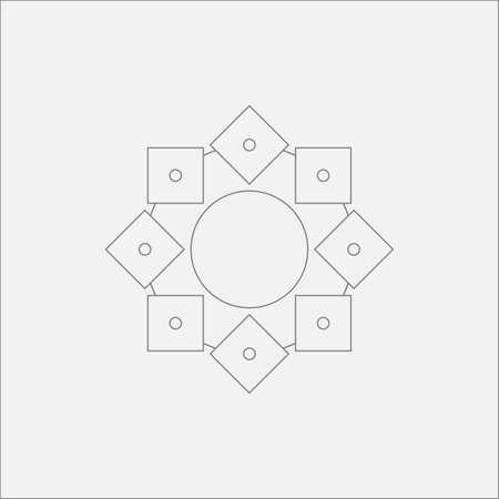 sacral: Abstract Circle Square Mandala Minimal Odd Design