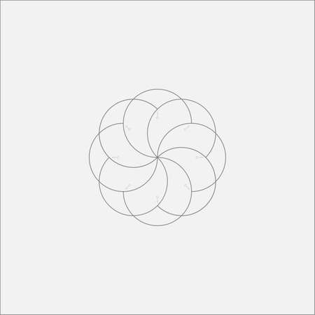cosmology: Abstract Tech Flower Minimal Design