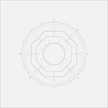 metaphysical: Octagon Mandala Minimal Art Odd Design