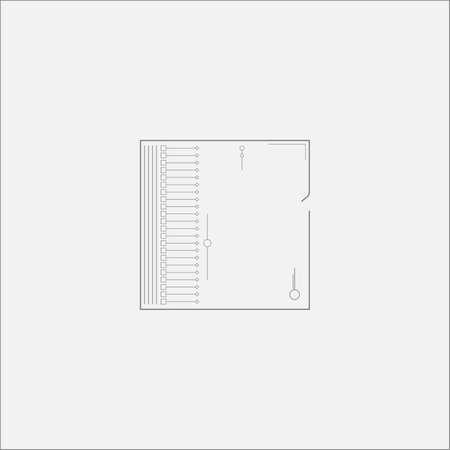sacral: Abstract Square Scheme Minimal Art Odd Design