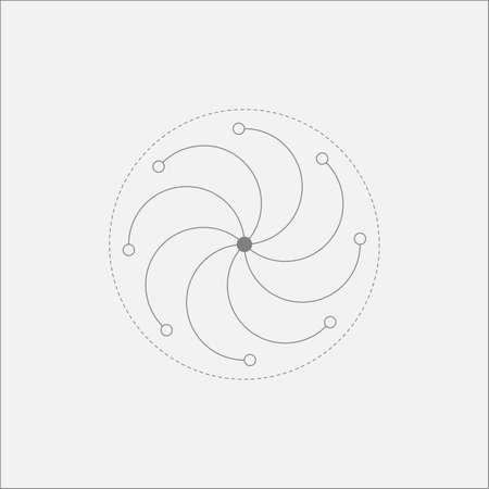 sacral: Abstract Vortex Minimal Art Odd Design