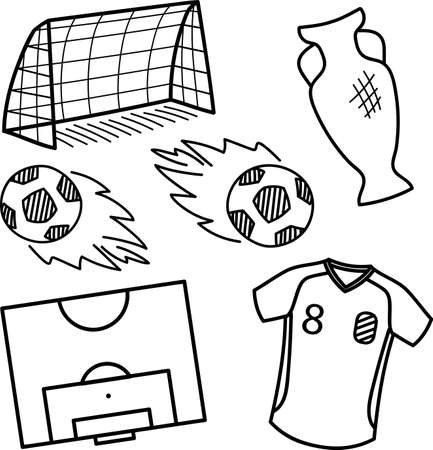 theme: Football theme. Vector set.