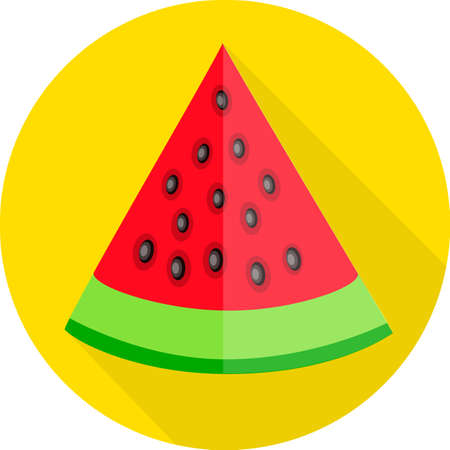 juicy: Juicy watermelon. Colorful flat icon