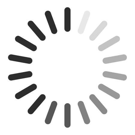 Flat icon of loading pocess. Vector illustration of preloader for website.