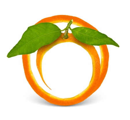 orange cut: Orange frame Stock Photo