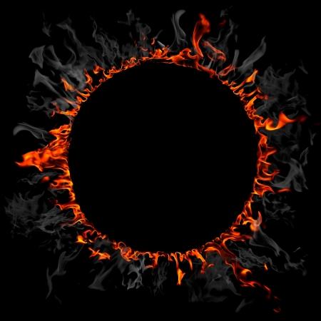 palla di fuoco: Fuoco e anello di fumo