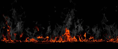 Flames background Stock Photo - 13392077