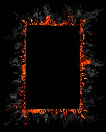 Burning frame background Stock Photo - 13392113