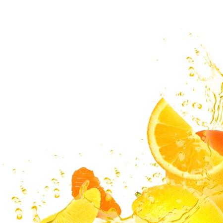 splash mixed: Background made of fruit isolated on white