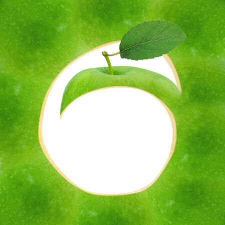 Green apple abstract design photo
