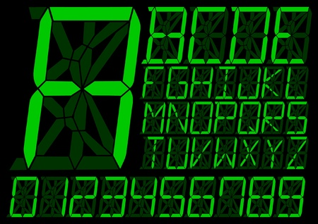 Digital alphabet design  Vector