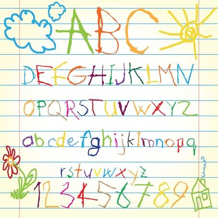Colored alphabet Stock Vector - 13598889