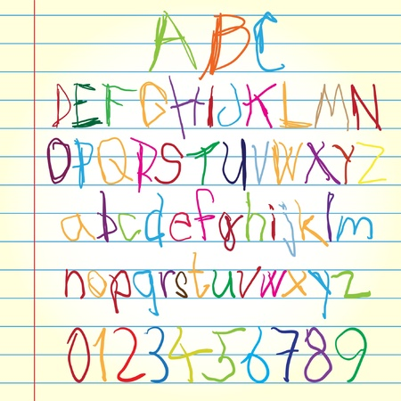 alphabet kids: Colored alphabet   Illustration