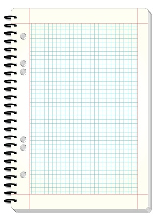 a sheet of paper: Blank squared pad design