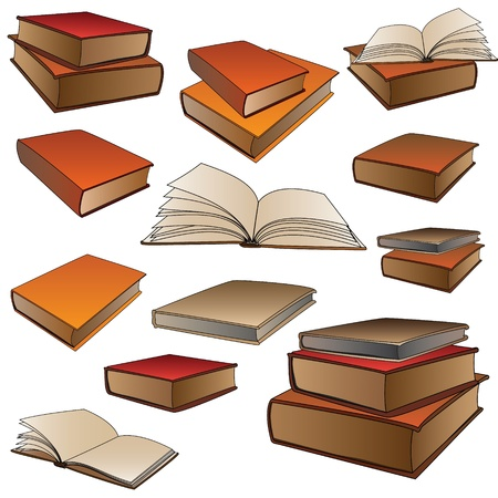 Collection of books   Stock Vector - 13598891